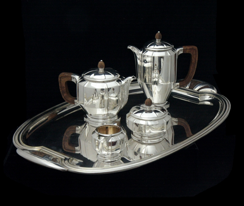sterlingsilverantiquefrenchteacoffeesetwithtray-set-10095